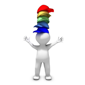 The person wearing many hats has a lot of responsibilities