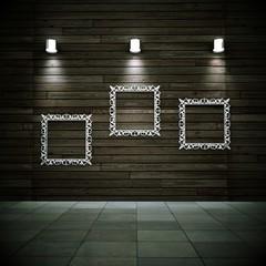 Wohndesign - Dekowand mit Bilderrahmen