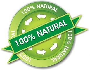 bouton 100% natural