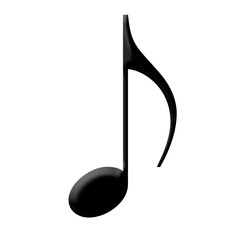 Black Music note,isolated