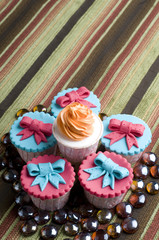 Colorfull cup cake with marbels