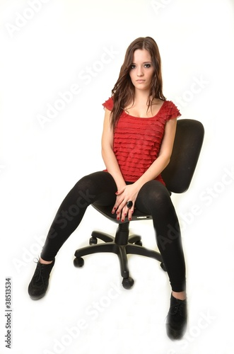 sexy secr taire photo libre de droits sur la banque d 39 images image 38513534. Black Bedroom Furniture Sets. Home Design Ideas