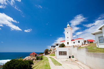Poster Afrique du Sud beautiful lighthouse in Mossel bay, South Africa