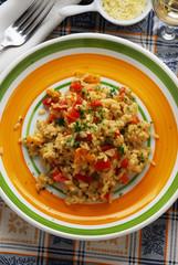 Arroz y pimientos Rice and peppers
