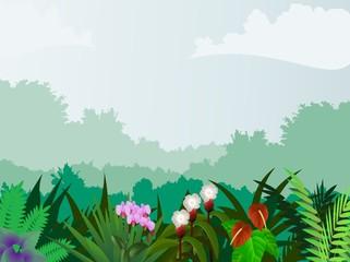 Tuinposter Feeën en elfen beautiful forest background