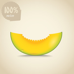 Cute fresh yellow melon illustration