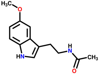 Melatonin structural formula