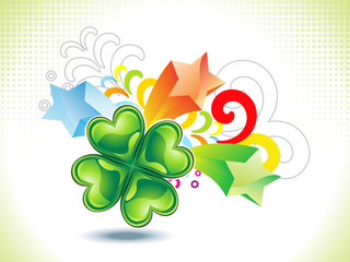 abstract st patrick clover explode