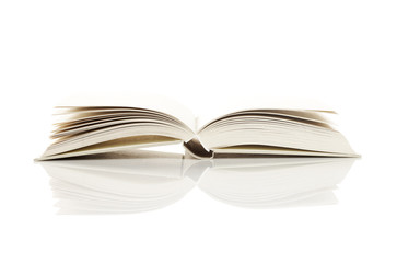 Pages of an open book, on white. More photo about book on my por