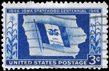 USA - CIRCA 1946 Iowa Statehood