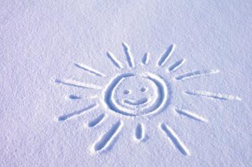 Rysunek śnieg