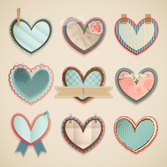 Wall Mural - Valentine`s Day scrapbooking elements