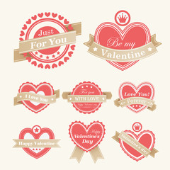 Wall Mural - Valentine`s Day Labels