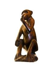Figura de mono de madera