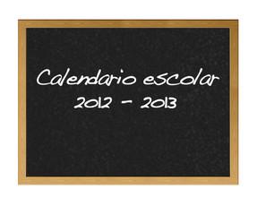 Calendario escolar 2012-2013.
