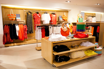 interior of women's clothing store