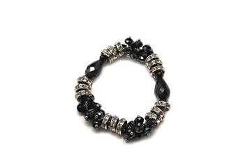 Stylish bracelet made of black and white stones.