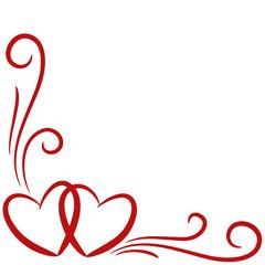 Herzen, Hintergrund, Karte, geschwungene Linien 1