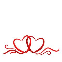 Herzen, Hintergrund, Karte, geschwungene Linien 2