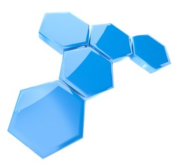 Wall Mural - 3d abstract hexagonal icon