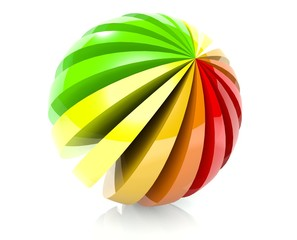 3d colored ball icon isolated on white