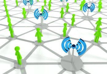 Social network connection with wifi