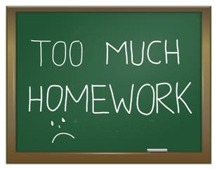 Homework stress.