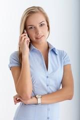 Teenager on mobile phone call