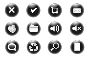Icone web - Raccolta nera