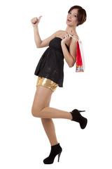девушка с пакетом