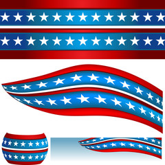 Patriotic USA Flag Banners