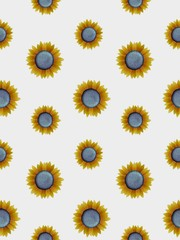 Seamless sunflowers