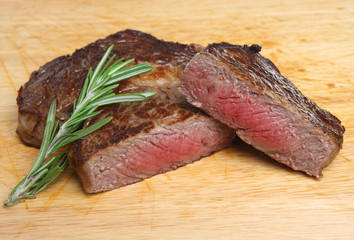 Rare Ribeye Beef Steak