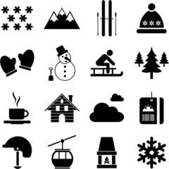 Fototapeta winter/alpine/ski pictograms obraz