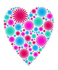 decorative heart - vector illustration