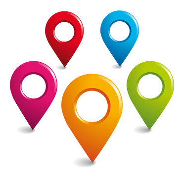 Location GPS symbols