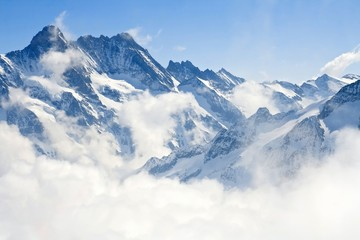 Photo sur Aluminium Alpes Jungfraujoch Alps mountain landscape