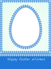 Blank Blue Easter Holiday card. Place your own text