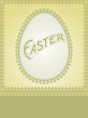 EASTER Holiday Card Design. Free space for text.