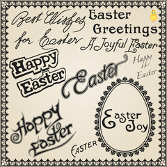 Easter Holiday Card Design.