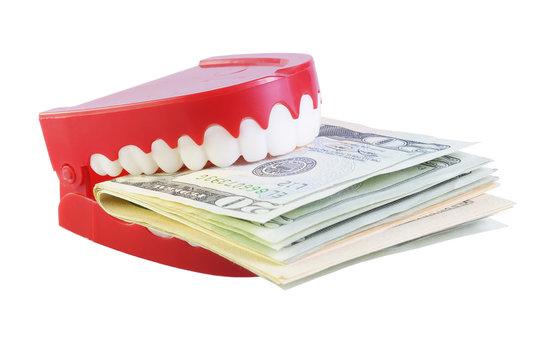 Teeth Eating Dollars