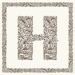 Ornamental letter for your design