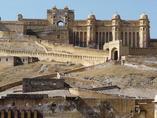 Poster de jardin Fortification fort d'amber, jaipur
