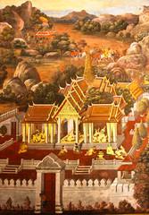 Thai art on the wall
