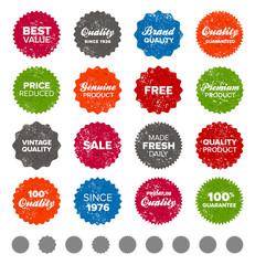 Simple vintage badges