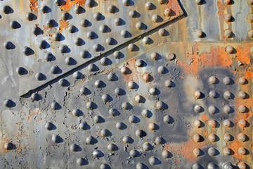 Old rusty rivets on Steel Bridge