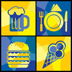 vector images of various food