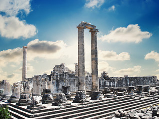 Poster Turquie view of Temple of Apollo in antique city of Didyma