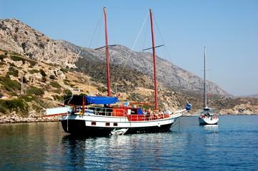 Cruise on schooner in Turkey