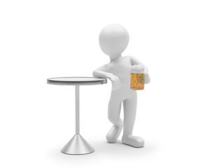 Mann mit Bier